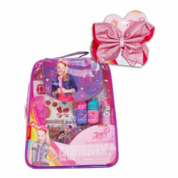 Girls Jojo Siwa Cosmetics Tote Bag Set Nail Polish Lip Gloss Balm & Bow Set