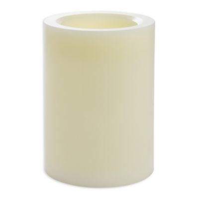 Candle Impressions® 6-Inch x 8-Inch Smooth Flameless Wax Pillar Candles with Vanilla Fragrance