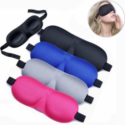 3D Soft Padded Travel Shade Cover Rest Relax Sleeping Blindfold Eye Mask Black