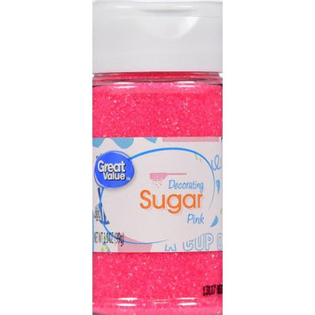 Wal-mart Stores, Inc. Great Value Pink Decorating Sugar, 3.5 oz