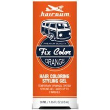 Hairgum Fix Color Temporary Hair Coloring Styling Gel - Orange 1 oz. (Pack of 3)