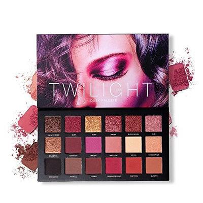 Eyeshadow Powder Palette, Xisheep Matte Eyeshadow Palette & Glitter Eyeshadow 18 Colors Combination Smoky with Shimmer Eyeshadow Twilight & Dusk Makeup Palette Cosmetics