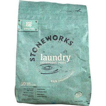 GrabGreen Stoneworks Laundry Detergent Rain Fragrance Free -- 50 Loads