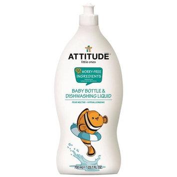 ATTITUDE, Little Ones, Baby Bottle & Dishwashing Liquid, Pear Nectar, 23.7 fl oz (700 ml) [Scent : Pear Nectar]