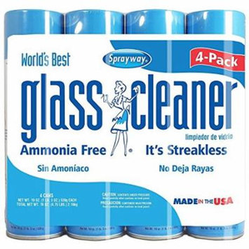 Sprayway, Glass Cleaner, 19 oz Cans, Pack of 4