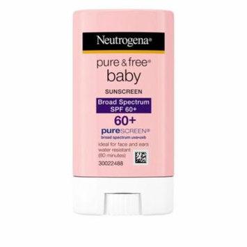 Neutrogena Pure & Free Baby Sunscreen Stick Broad Spectrum SPF 60, 0.47 oz