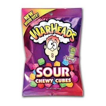 Warheads Chewy Candy (Pack of 18)
