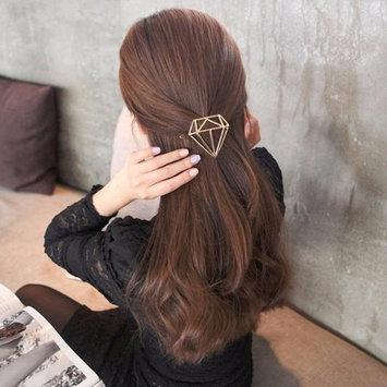 Ecurson Hollow Out Diamond Geometric Shape Hairpin Hair Clips Hair Accessories (G