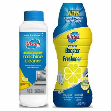Glisten Dishwasher Magic Machine Cleaner and Disinfectant and Dishwasher Detergent Booster