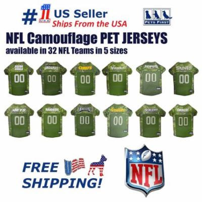 Pets First NFL Cincinnati Bengals Camouflage Pet Jersey for Cats and Dogs - Licensed