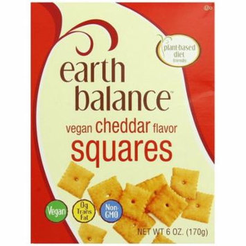 Earth Balance Vegan Cheddar Flavor Squares Crackers 6 Ounce New
