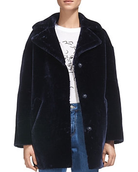 Whistles Yara Faux-Fur Cocoon Coat