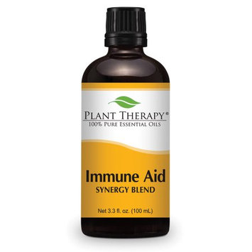 Immune-Aid Synergy Essential Oil Blend. 100 ml. 100% Pure, Undiluted, Therapeutic Grade. (Blend of: Frankincense, Tea Tree, Rosemary, Lemon, Eucalyptus and Orange)