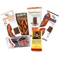 Extreme Bacon Chocolate Sampler Pack (6pc Set) - Vosges Milk & Dark Chocolate Bacon Bars, Chuao Maple Bacon Milk Chocolate Bar, Dark Chocolate Bacon Toffee, Chocolate Covered Bacon & Bacon Hot Cocoa