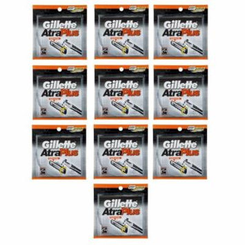 Gillette Atra Plus Refill Razor Blades 10 ct. (Pack of 10) + Yes to Coconuts Moisturizing Single Use Mask