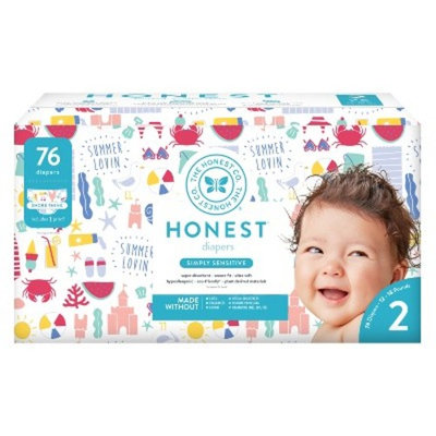 Honest Company Disposable Diapers, Shore Thing - Size 2 (76ct)