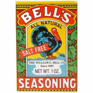 2 Boxes Of Bell's All Natural Salt Free Poultry Turkey Seasoning 1 Oz Each