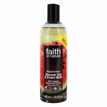 Faith in Nature - Shower Gel & Foam Bath with Organic Watermelon Extract Watermelon - 13.5 fl. oz.