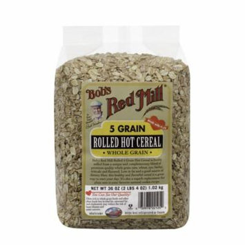 (3 Pack) Bobs Red Mill Cereal 5 Grain Rolled, 36 Oz
