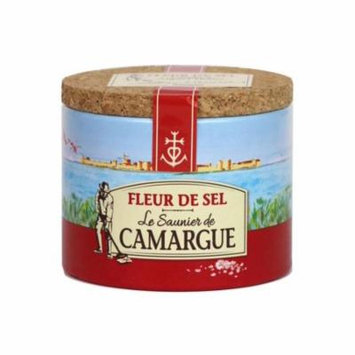 French Le Saunier De Camargue Fleur De Sel Sea Salt 4.4 Oz (125g) Canister New