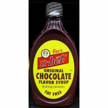 Fox's U-Bet Original Chocolate Syrup 22 oz, Great w/ Milk, Ice Cream, Fast Ship