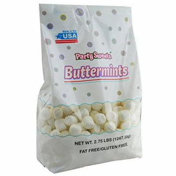 Party Sweets White Buttermints, 2.75 Pound, Appx. 350 pieces from Hospitality Mints