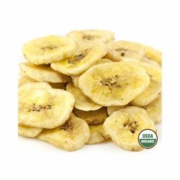 SweetGourmet ORGANIC Dried Banana Chips Sweetened - 1LB FREE SHIPPING!