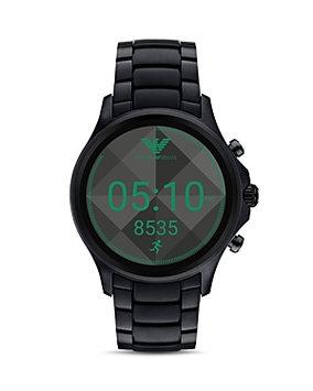 Emporio Armani Full Display Smartwatch Black - Emporio Armani Wearable Technology