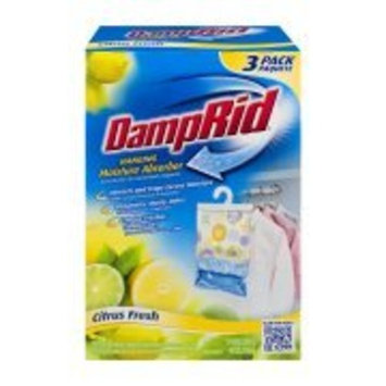 DampRid Hanging Moisture Absorber Citrus Fresh, 14oz 3-pack