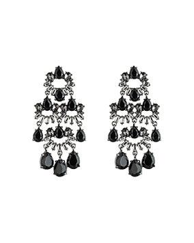 Carolee Hematite Statement Clip-On Earrings