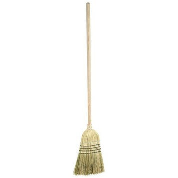 LAITNER 469 Corn Broom,54in, Corn Bristle, Wood Handle