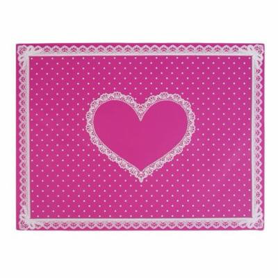 Oie Loves Silicon Lace Polka Dot Heart Pattern Nail Art Table Mat Pad Manicure Clean
