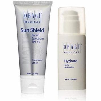 Obagi Medical Sun Shield SPF 50 Matte Lotion 3 oz & Hydrate Facial Moisturizer 1.7 oz Set