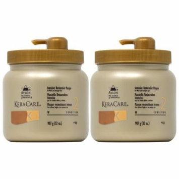 Avlon Keracare Intensive Restorative Masque with Pump 32oz (Pack of 2)