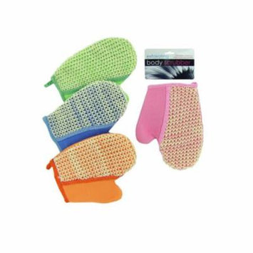 loofah bath glove assorted colors - Pack of 72