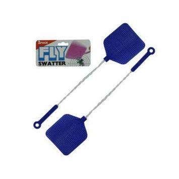 Bulk Buys GM057-96 Multi Color Metal Plastic Fly Swatter Value Pack - Pack of 96