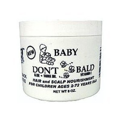 (Pack of 3) BABY DON'T BE BALD Hair and Scalp Nourishment 8 oz : Beauty