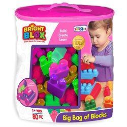 Cra-Z-Art Bright Blox 82 Piece Bag of Blocks - Pink