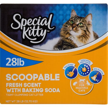 Special Kitty Scoopable Fresh Scent With Baking Soda  Tight Clumping Cat Litter