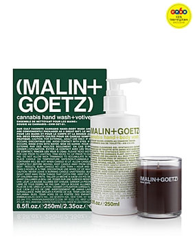 Malin and Goetz Cannabis Hand Wash & Votive Gift Set - 100% Exclusive