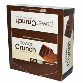BNRG, Power Crunch Protein Energy Bar Original, Triple Chocolate, 12 Bars, 1.4 oz Each(pack of 1)