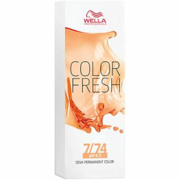 Color Fresh 7/74 Medium Blonde / Brown Red   Semi-Permanent   Wella Pro