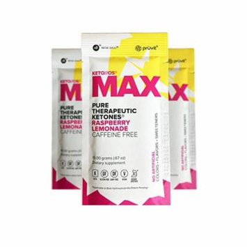 KETO//OS MAX Raspberry Lemonade Caffeine Free (3 Sachets) Energy Boost, Promotes Weight Loss and Burn Fats with Ketosis