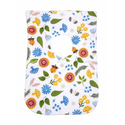 Greatlookz Fashion Greatlookz Animal Envy Cotton Printed Baby Bib, Forest Flowers