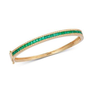 EFFY® Emerald (2-1/2 ct. t.w.) & Diamond (3/8 ct. t.w.) Link Bracelet in 14k G