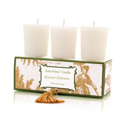 Seda France™ Elegant Gardenia Classic Toile Votive Candle (Set of 3)