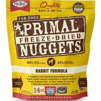 Rabbit Formula Grain-Free Freeze-Dried Dog Food, 14 oz