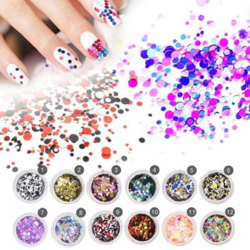 Buy 1 Get 1 FreeThin Sequins Nail Art Glitter Round Shape Nail Art Glitter Tips Decorations,1#