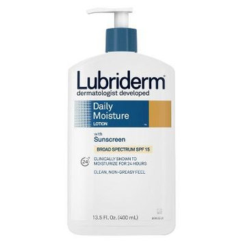 Lubriderm® Daily Moisture Body Lotion With Broad Spectrum SPF 15 Sunscreen - 13.5 fl oz