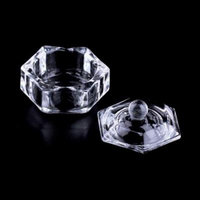 Buy 1 Get 1 FreeOUTAD New Nail Art Acrylic Crystal Glass Dappen Dish Bowl Cup Clear Nail Tools